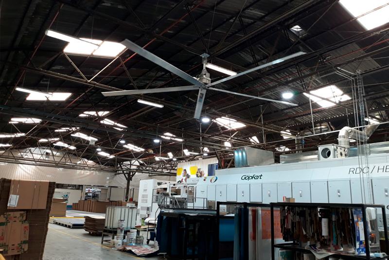 Nombre del artículo - Ventiladores HVLS Optimvent - HVLS Optimvent Industria1280x854 -